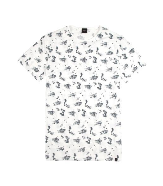 525x600 Men's Strata Cornish Hawaiian Print Organic Cotton Tee Finisterre