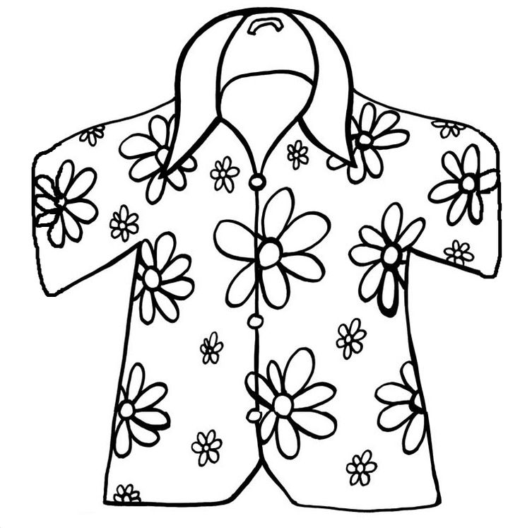 coloring pages of a shirt | Hawaiian Shirt Drawing at GetDrawings.com | Free for ...