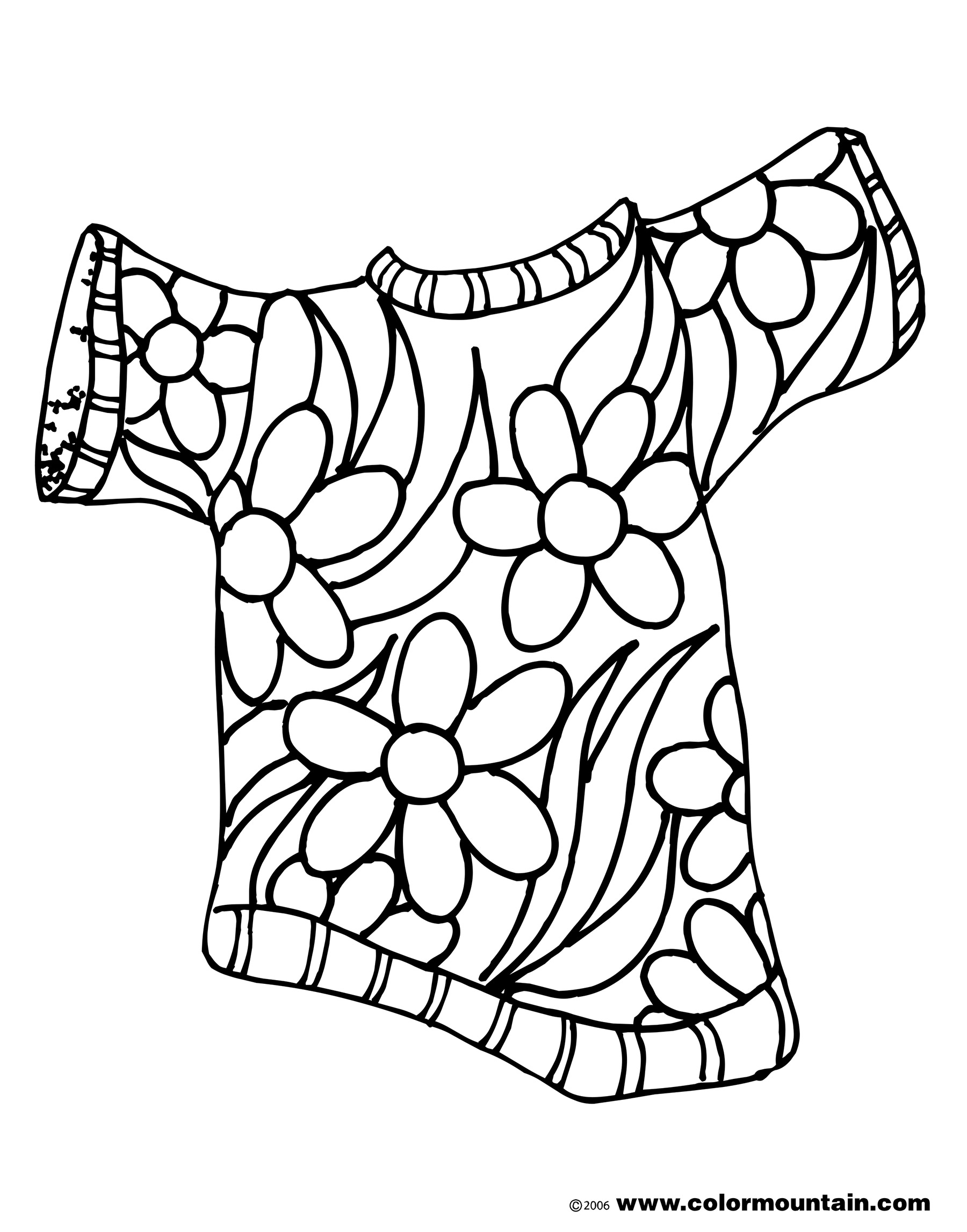 1800x2294 Summer Flower Shirt Color Picture