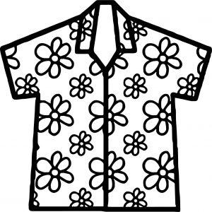 300x300 Coloring Pages Tshirt Coloring Page Hawaiian Shirt Pages Tshirt