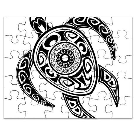 460x460 Black Hawaiian Turtle 2 Puzzle By Underthesea2