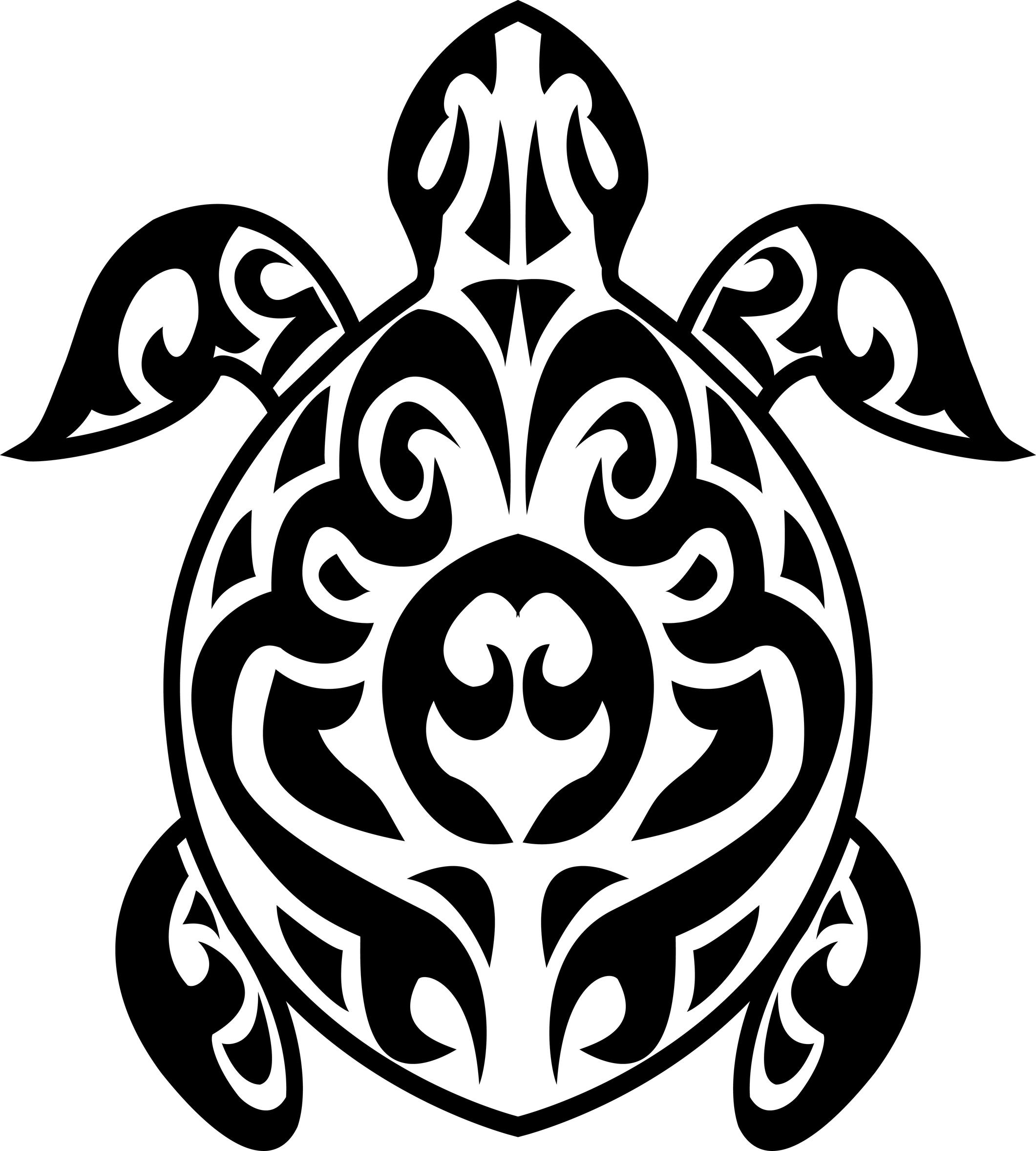 2121x2356 Turtle Tribal Designs Clipart Panda
