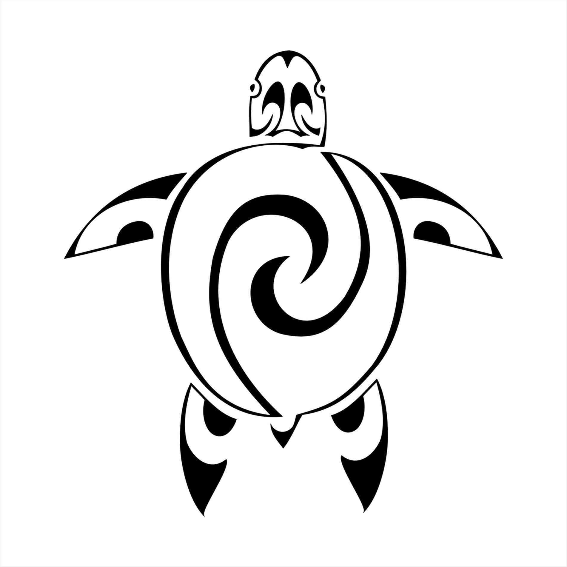 1900x1900 Hawaiian Tattoos Design And Ideas Drawn Turtle Polynesian Pencil