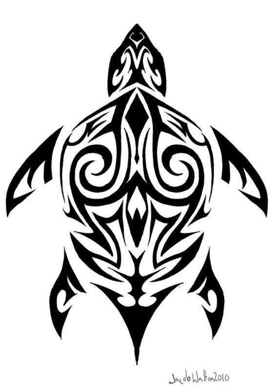 570x800 Hawaiian Turtle Clipart