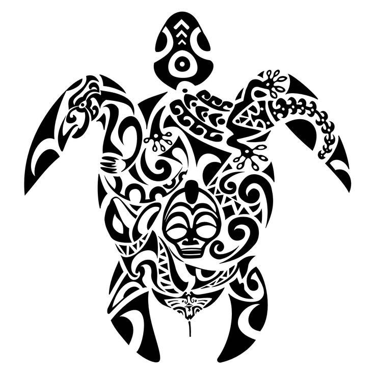 736x736 Collection Of Set Of Maori Tribal Turtle Tattoos