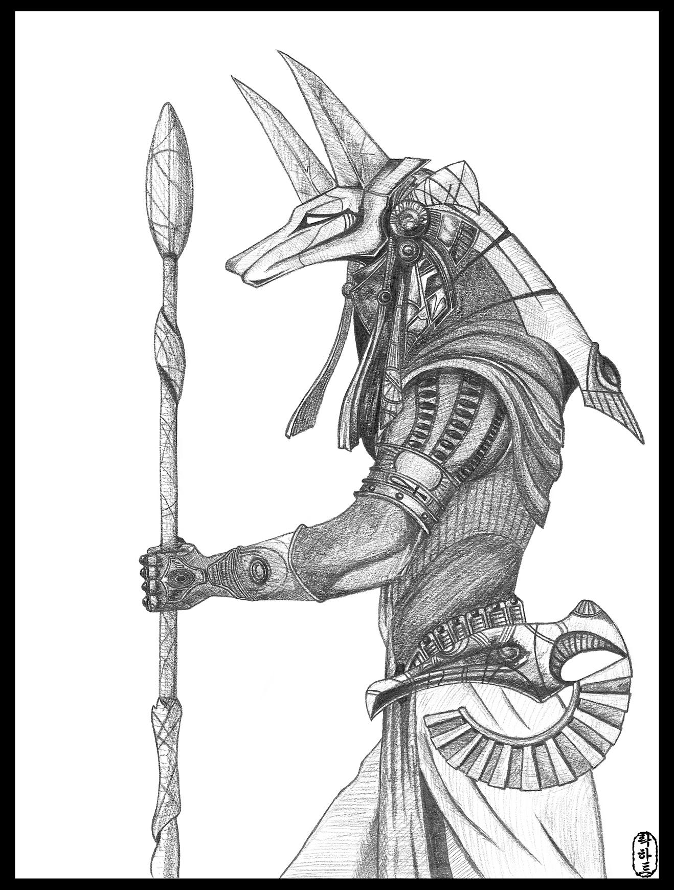 1318x1739 Stargate Anubis Warrior Concept Concept Art