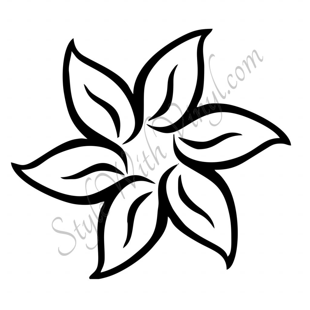 1024x1024 Easy Hawaiian Flowers Draw Easy Drawing Flower Designs How