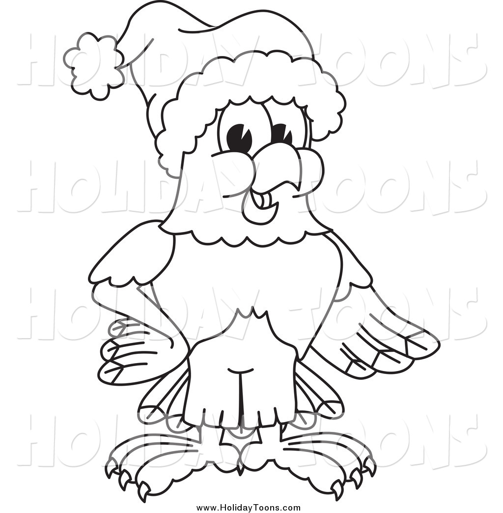 1024x1044 Royalty Free Holiday Cartoon Of A Black And White Bald Eagle Hawk