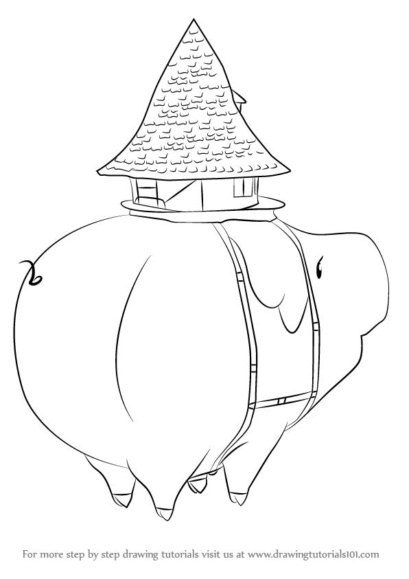 596x843 Learn How To Draw Hawk Mama From Nanatsu No Taizai (Nanatsu No