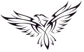 320x200 Hawk Tattoo