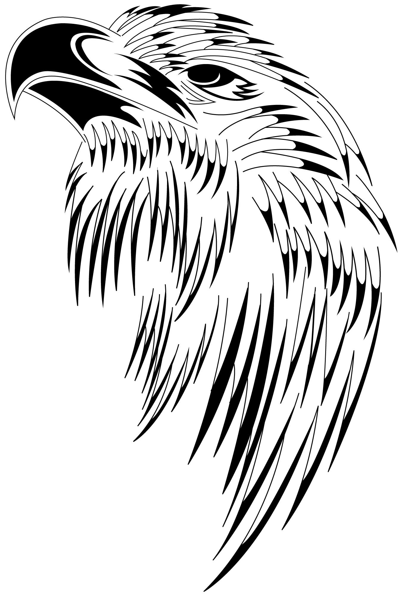 1350x2000 Hawk Tribal Designed By Toka Atl Tattoos Tattoo