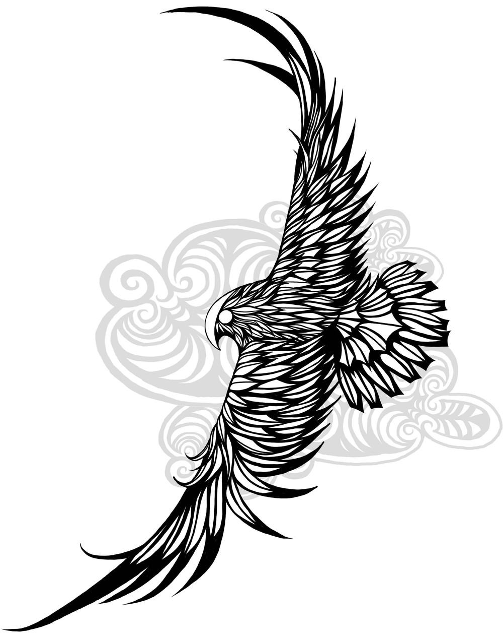 1000x1268 A Falcon Design I Created For My Latest Tattoo. Still Working