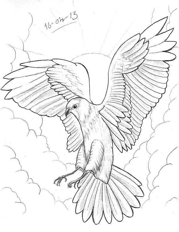 598x775 Tattoo Sketch A Day Birds April 15th