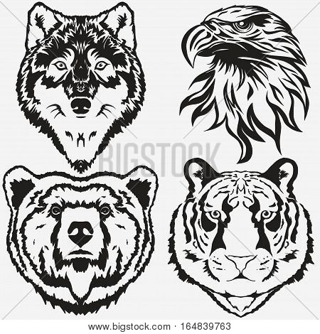 450x470 Tiger Eagle Wolf Bear Logo Vector Amp Photo Bigstock