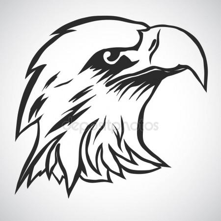 450x450 Vector Bald Eagle Or Hawk Head Mascot Graphic Stock Vector