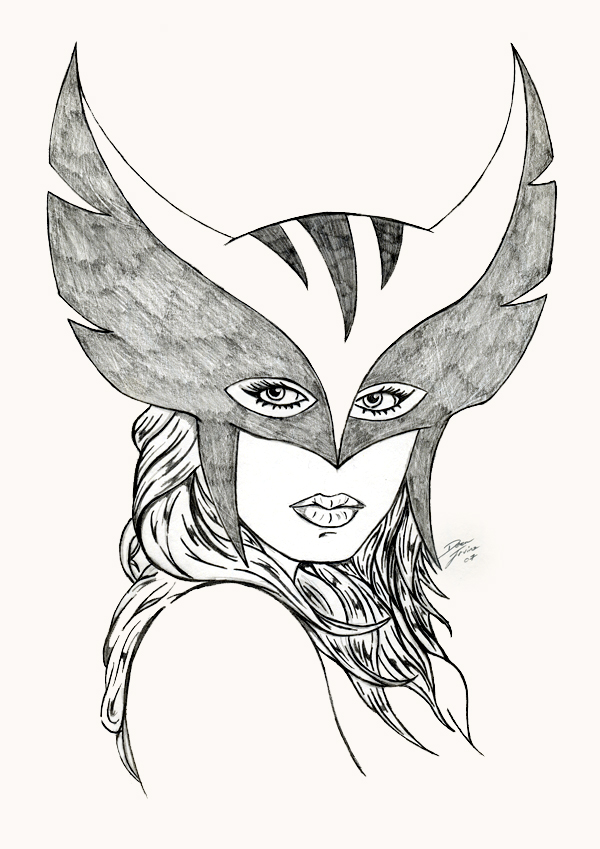 600x849 Hawkgirl Drawing By Dean Irvine