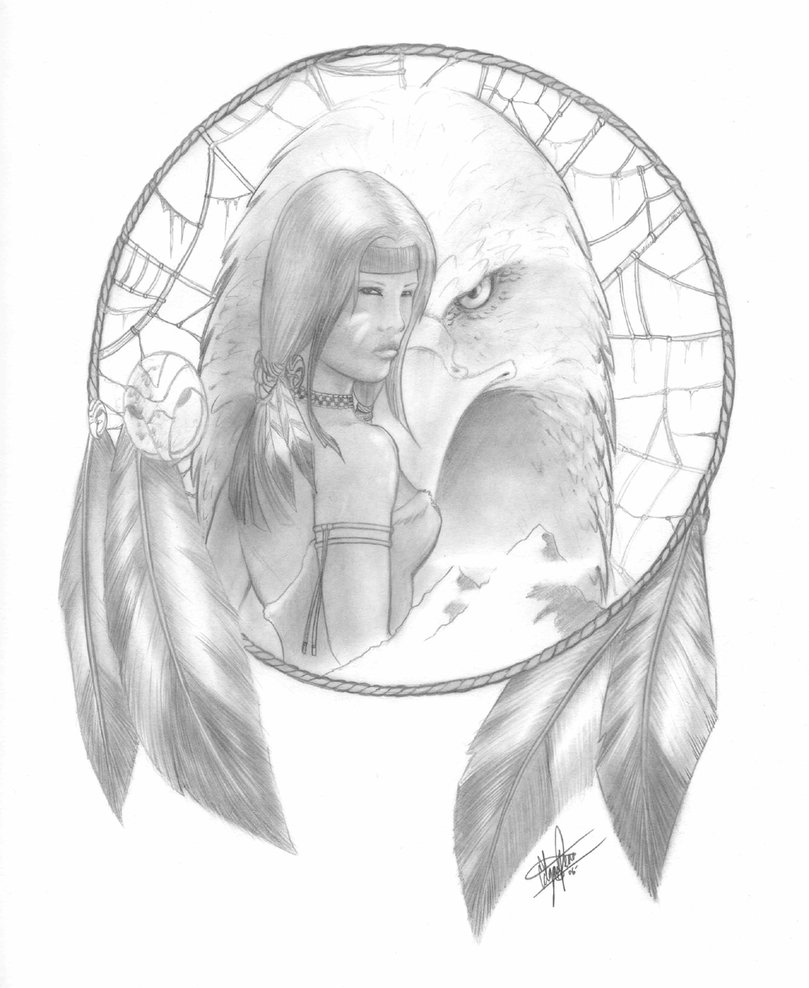 809x988 Native American Dream Catcher Drawings Native American Pencil