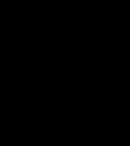 446x500 Vector Line Art Illustration Of Bird Of Prey In Flight