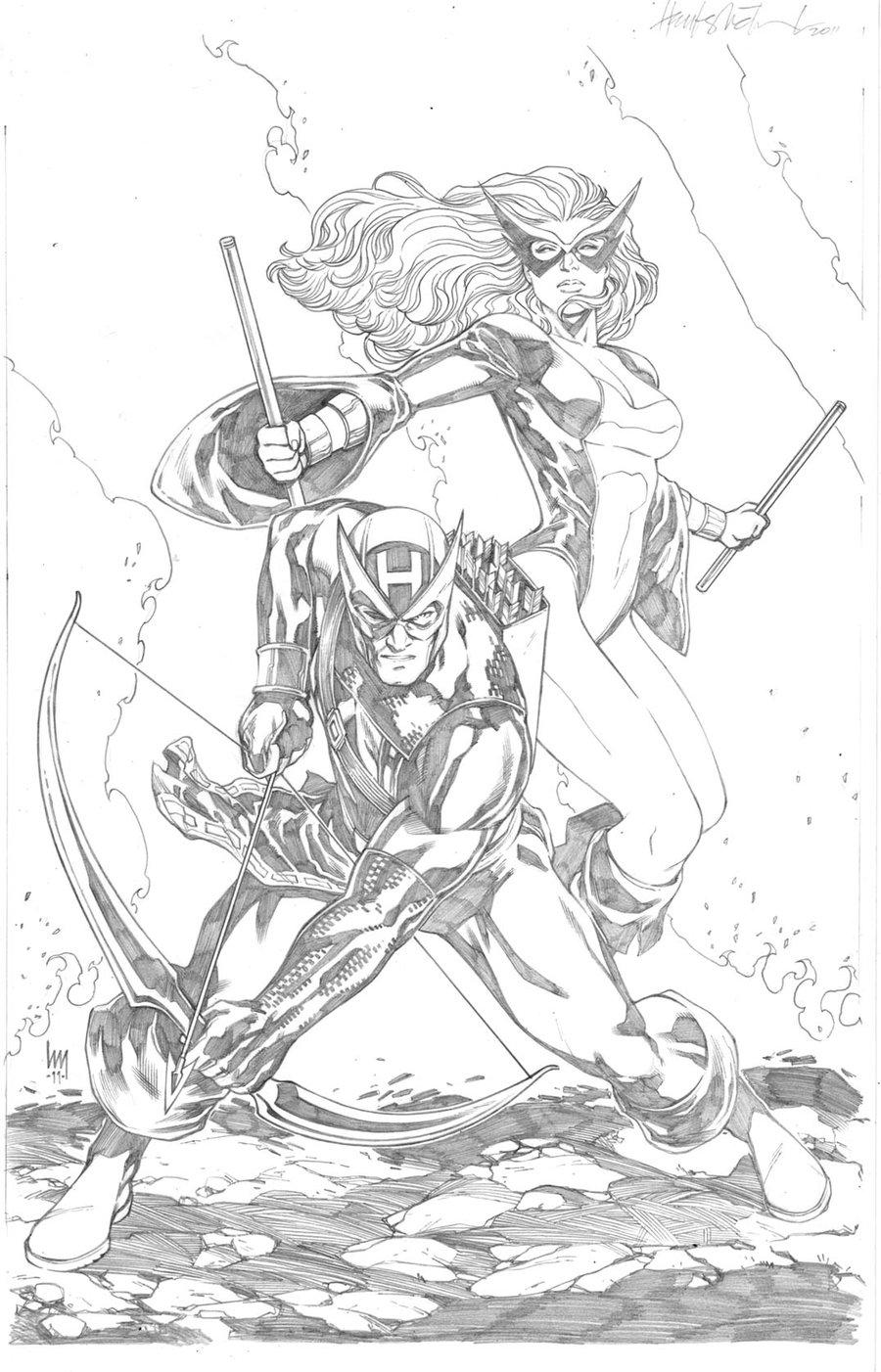 900x1402 Hawkeye And Mockingbird By Wrathofkhan