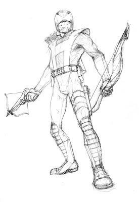 275x400 Burning Monster A Sketch Blog Bendis Board Hawkeye Redesign