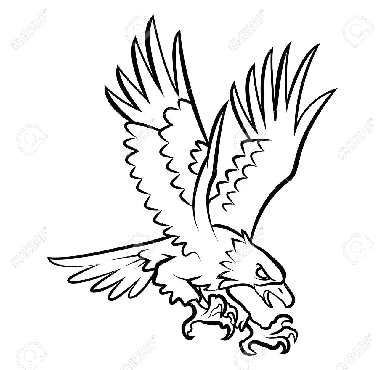 Hawks Drawing