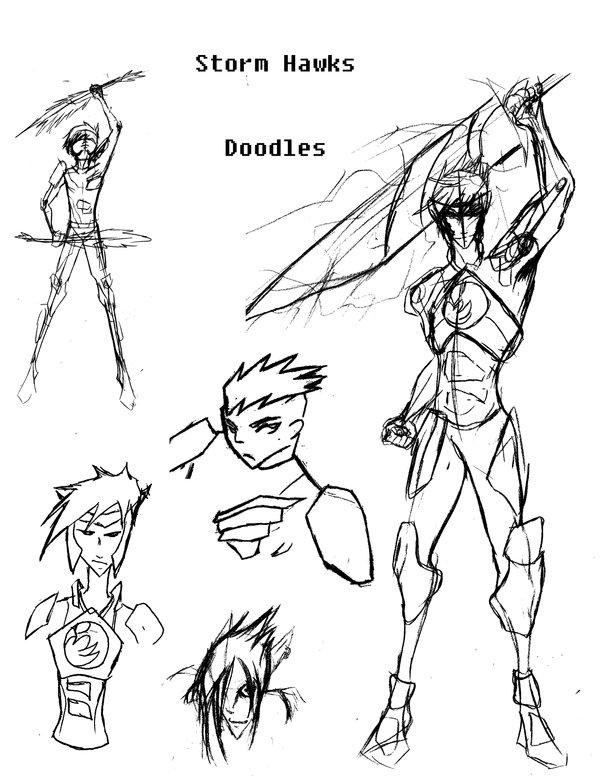 600x776 Storm Hawks Sketch Dump By Thisperfectnonsense