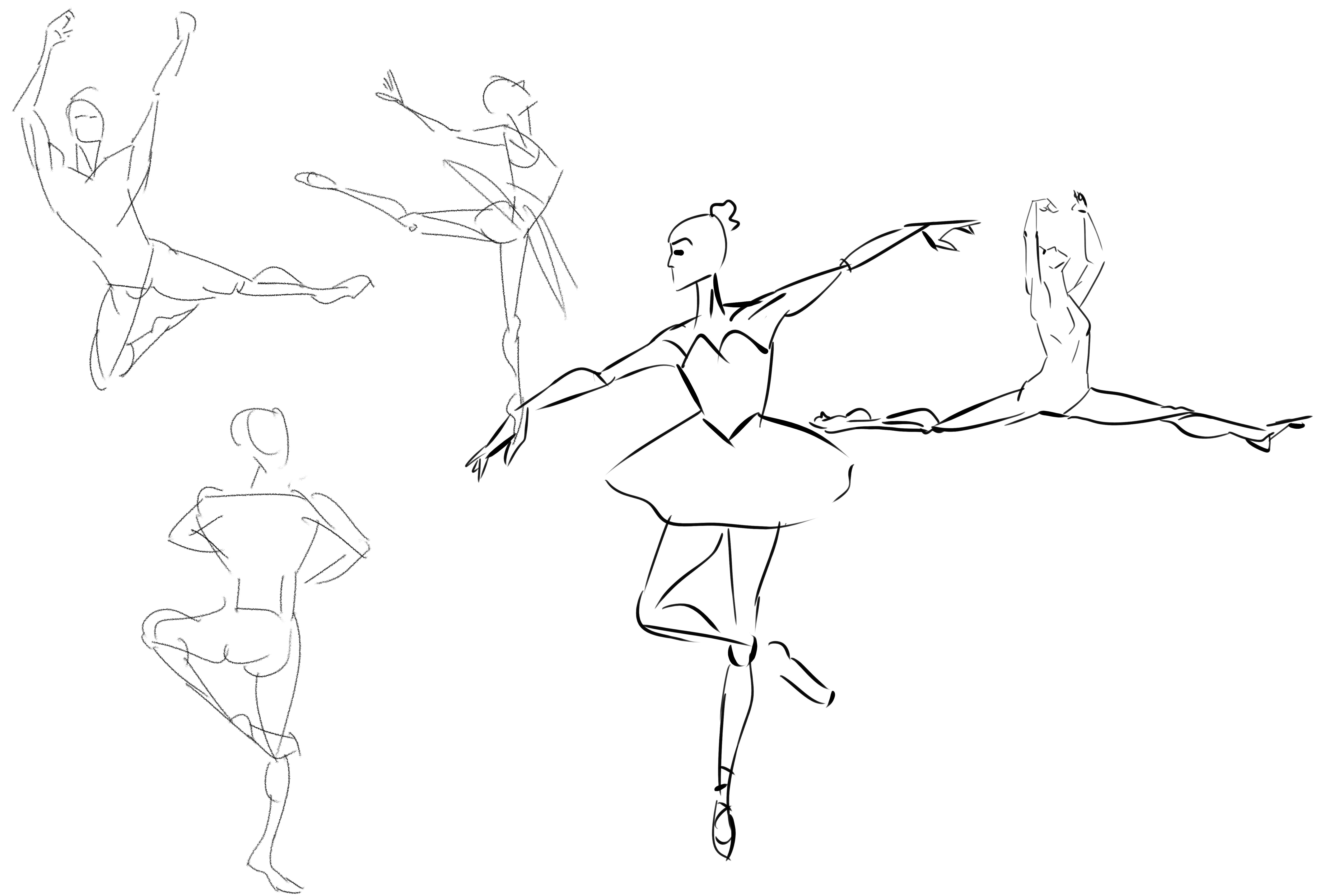 6336x4288 Scribble Gesture Stick Figure Drawings