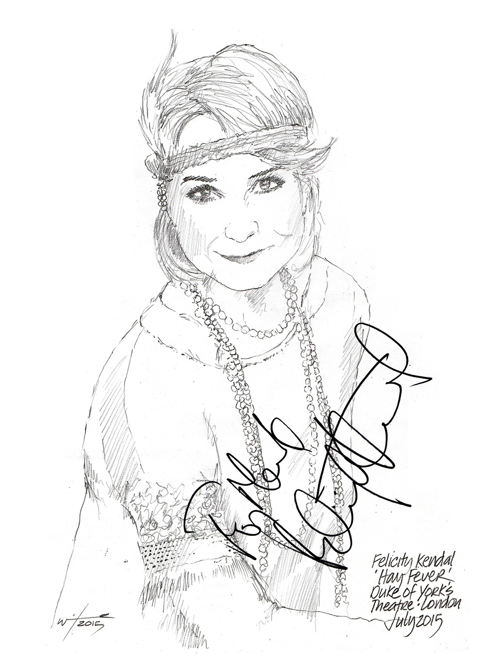 1000x1373 Drawing Felicity Kendal In Hay Fever Chicanepictures