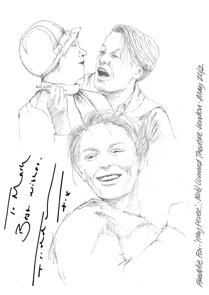 710x1000 Drawing Freddie Fox In Hay Fever Chicanepictures