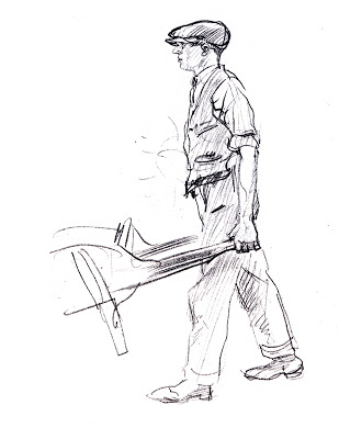 309x400 Man With Wheelbarrow By E.h. Shepard, 1924 Place Garden