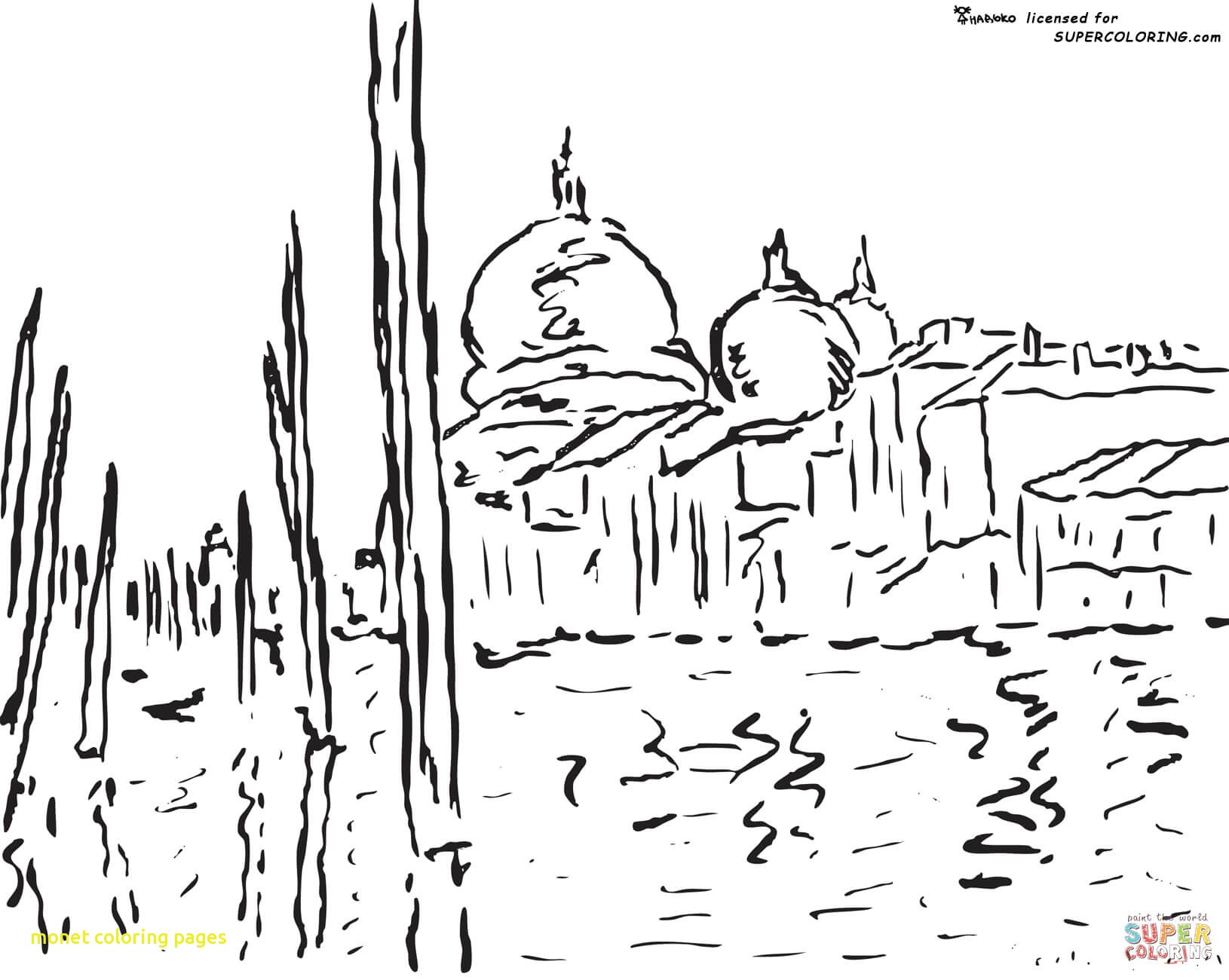 1630x1300 Monet Coloring Pages With Claude Monet Haystack Coloring Page