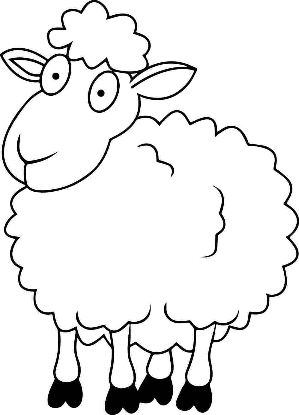 997x1383 By Viergacht On New Sheep Coloring Pages New Lamb Cut