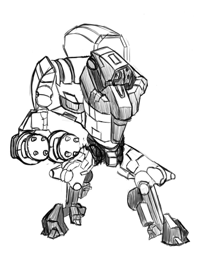 800x1000 Hazard Suit Sketch Unfinished. By Anchovybob