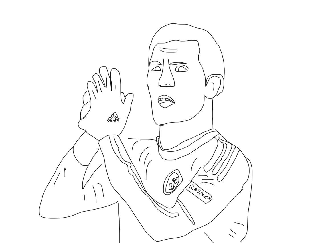 1136x852 Eden Hazard Drawing!! Chelsea Fans Only Nick's Illustrations