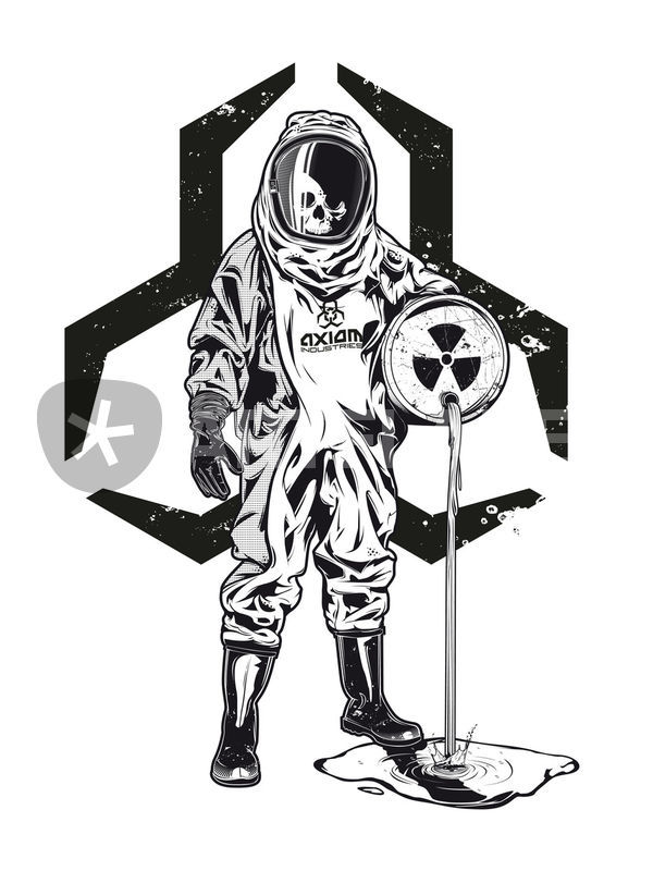 600x800 Hazmat Suit Graphicillustration Art Prints And Posters By