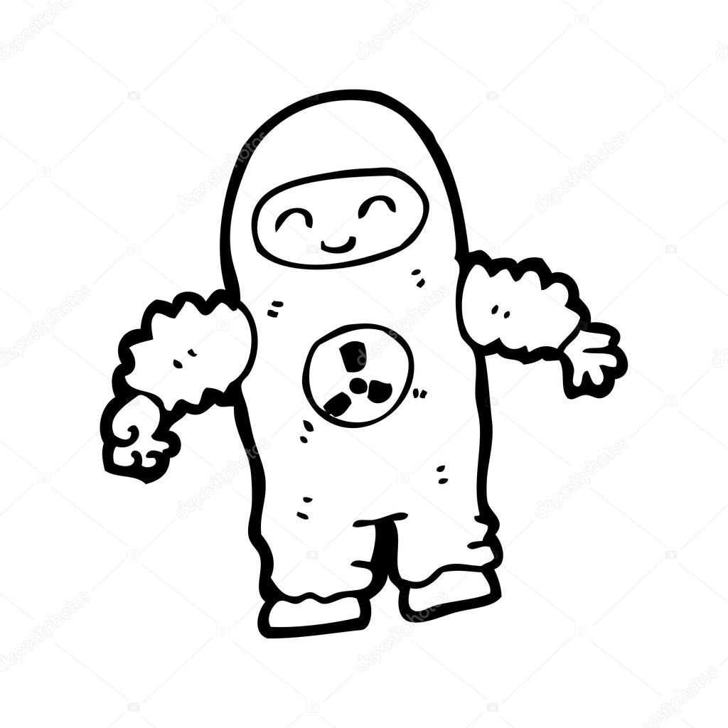 1024x1024 Man In Radiation Suit Cartoon Stock Vector Lineartestpilot