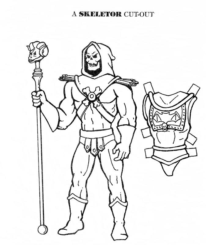 674x800 Mostly Paper Dolls He Man And Skeletor Cut Outs