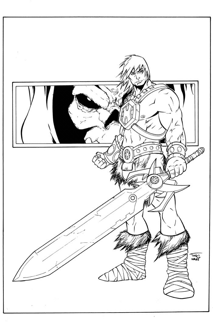 700x1080 He Man Sketch Inked By Deemonproductions