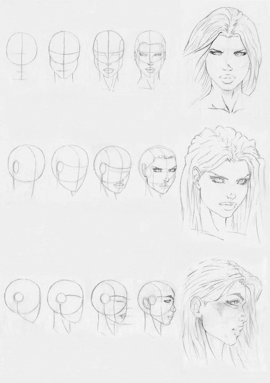 900x1273 Marvel Style Head Drawing By Rofelrolf
