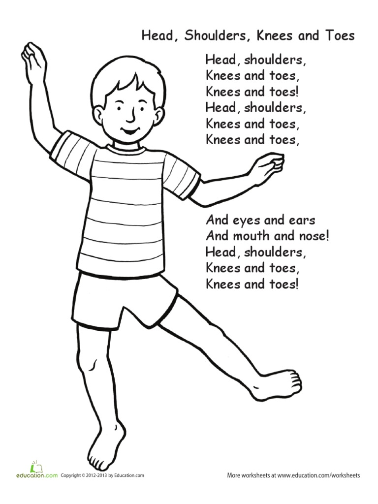768x1024 Download Head Shoulders Knees And Toes Flashcards