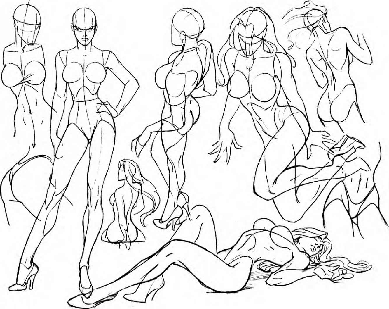 1333x1057 Drawing Shoulders And Neck Head Tilts And Turns Drawing Comics