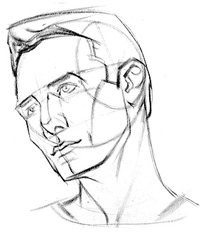 300x338 How To Draw The Head From Extreme Angles Proko