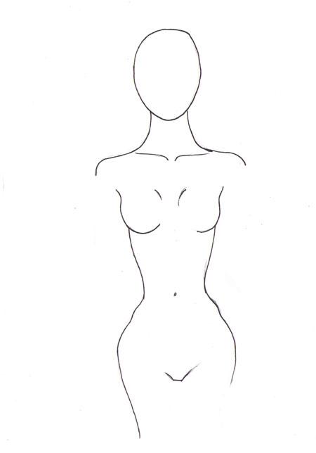 450x644 How To Draw Female Torso I Draw Fashion