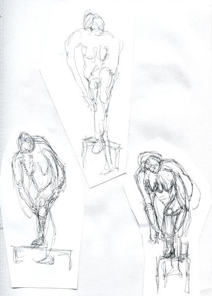 431x600 Life Drawing Woman Walking Slowly