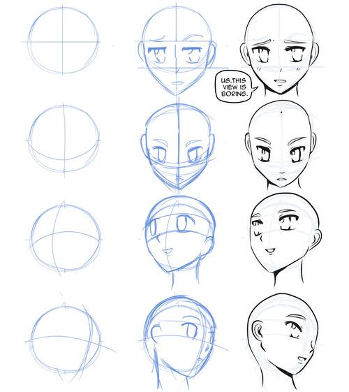 500x561 How To Draw Manga How To Draw Manga Faces