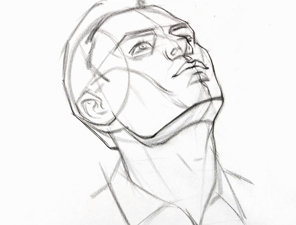 993x756 Comic Book Video Tutorials How To Draw The Head From Extreme Angles