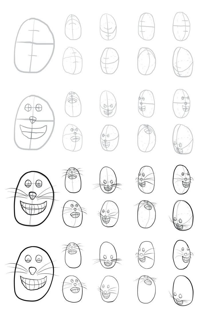 726x1100 Cartoon Head Construction Test 01 By Vigorousjammer