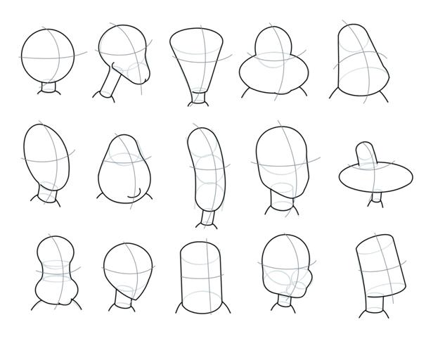 606x485 How To Draw Cartoon Heads