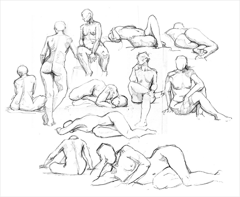 1000x819 Life Drawing Sketches By Adlovett