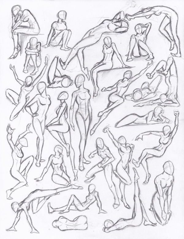 600x780 Drawing Poses Figure Drawing Studies